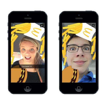 McDonad's fue de los primeros en utilizar el geofilter de Snapchat para empresas