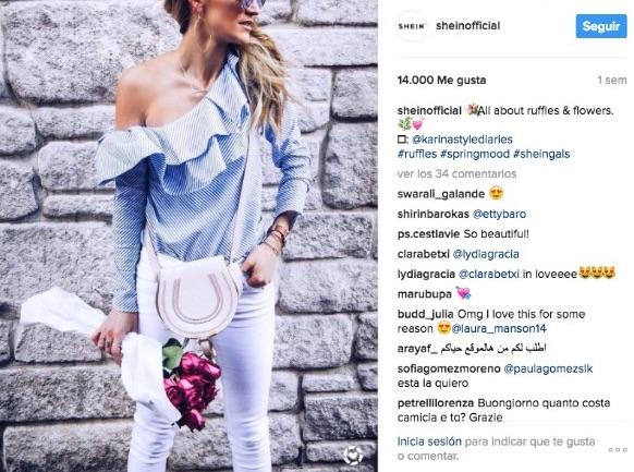 instagram para empresas shein