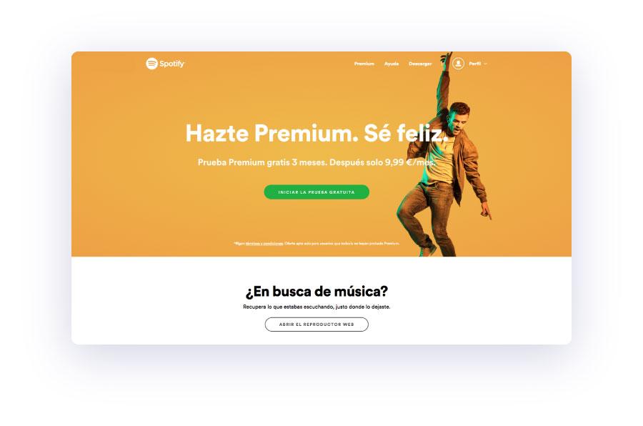 ejemplo de web 2019 con colores vibrantes