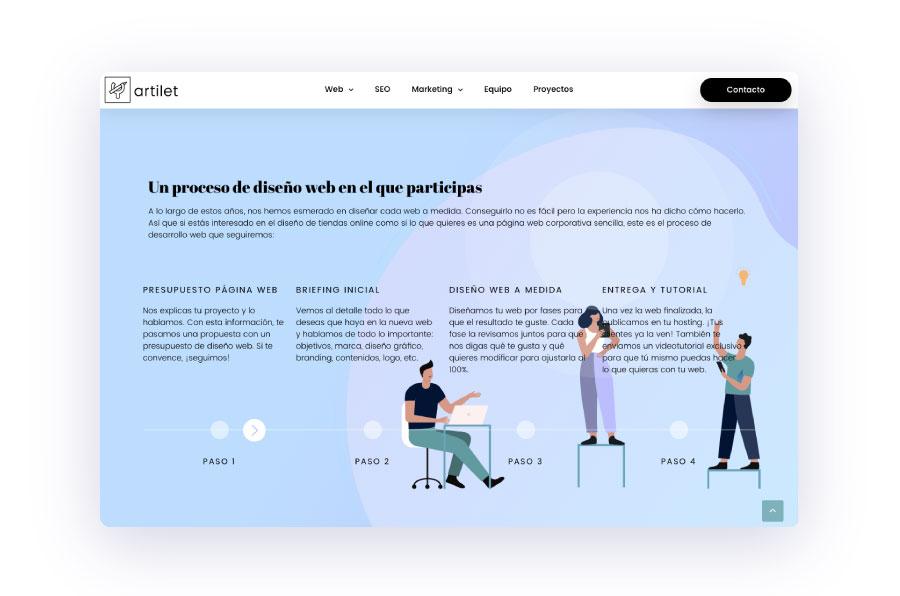 ejemplo de la tendencia 2019 de ilustraciones en diseño web
