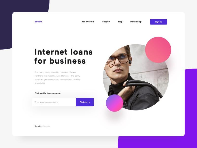 Ejemplo de diseño web material