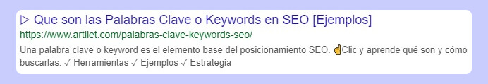 meta data para snippet con keyword principal