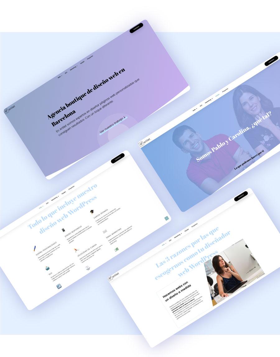 ejemplo de títulos grandes en diseño web 2019