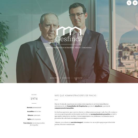 disseny web corporatiu exemple 1
